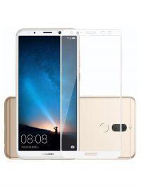 Folie Fullscreen 2.5D din sticla securizata pentru Huawei Mate 10 Lite ALB