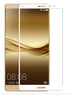 Folie Fullscreen 2.5D din sticla securizata pentru Huawei Mate 8 ALB