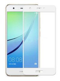 Folie Fullscreen 2.5D din sticla securizata pentru Huawei Nova 2 Plus ALB