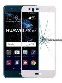 Folie Fullscreen 2.5D din sticla securizata pentru Huawei P10 Lite ALB
