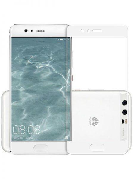 Folie Fullscreen 2.5D din sticla securizata pentru Huawei P10 Plus ALB