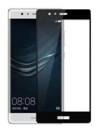 Folie Fullscreen 2.5D din sticla securizata pentru Huawei P9 NEGRU