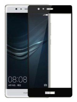 Folie Fullscreen 2.5D din sticla securizata pentru Huawei P9 Plus NEGRU