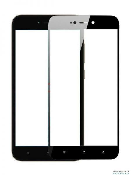 Folie Fullscreen 2.5D din sticla securizata pentru Xiaomi Redmi Note 5A (Y1 Lite) NEGRU