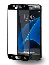 Folie curbată 3D din sticlă securizată pentru Samsung Galaxy S7 NEGRU