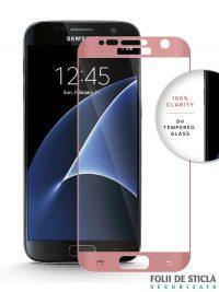 Folie curbată 3D din sticlă securizată pentru Samsung Galaxy S7 ROSE GOLD