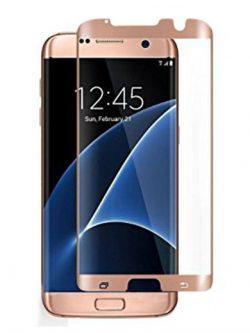 Folie curbată 3D din sticlă securizată pentru Samsung Galaxy S7 Edge ROSE GOLD (Case-compatible)