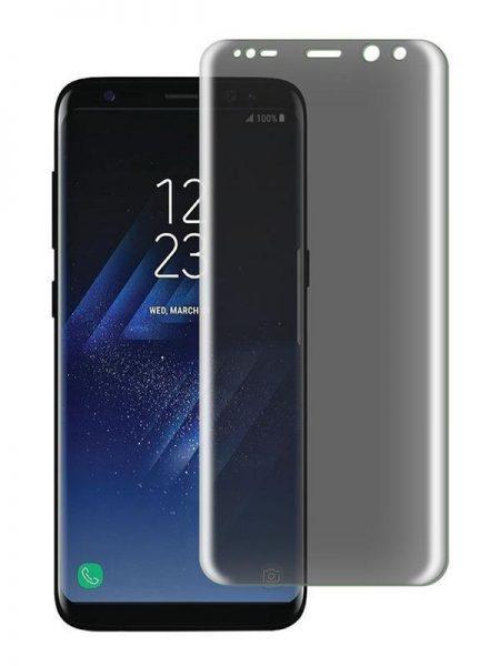 Folie PRIVACY curbată 3D din sticlă securizată pentru Samsung Galaxy S8 (Full cover)