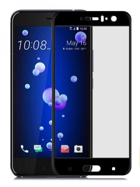 Folie curbată 3D din sticlă securizată pentru HTC U11 NEGRU
