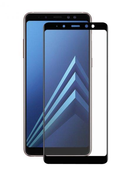 Folie curbată 5D din sticlă securizată pentru Samsung Galaxy A8 (2018) NEGRU - Full glue