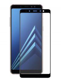 Folie ușor curbată 5D din sticlă securizată pentru Samsung Galaxy A8+ (2018) NEGRU - Full glue