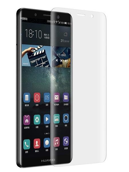 Folie curbată 3D din sticlă securizată pentru Huawei Mate 10 Pro TRANSPARENT (full cover)