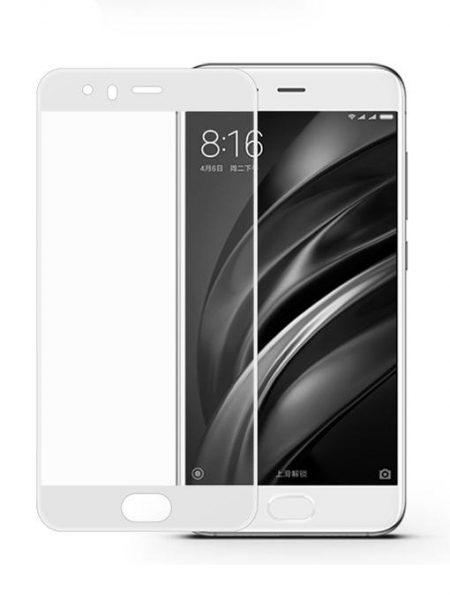 Folie Fullscreen 2.5D din sticla securizata pentru Xiaomi Mi 6 ALB
