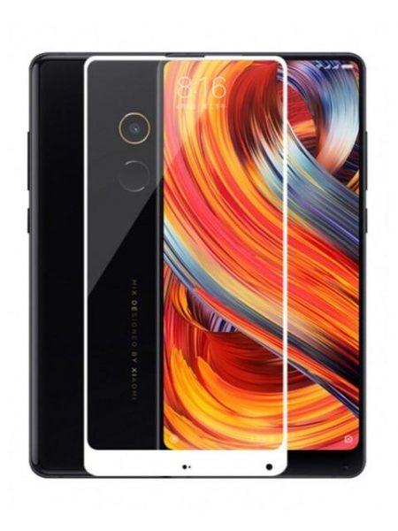 Folie Fullscreen 2.5D din sticla securizata pentru Xiaomi Mi Mix 2 ALB