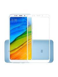 Folie Fullscreen 2.5D din sticla securizata pentru Xiaomi Redmi 5 ALB