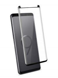 Folie curbată 3D din sticlă securizată pentru Samsung Galaxy S9 NEGRU (Case-compatible 2)
