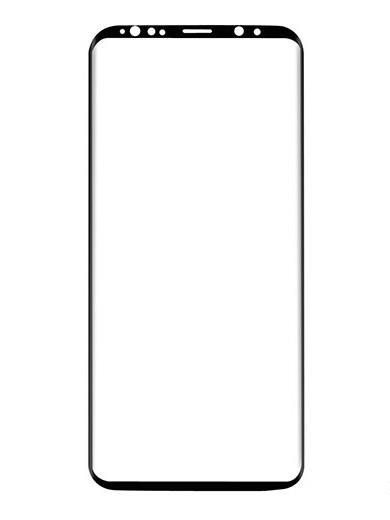 Folie curbată 3D din sticlă securizată pentru Samsung Galaxy S9 NEGRU (Case-compatible 1)