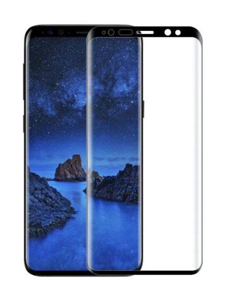 Folie curbată 3D din sticlă securizată pentru Samsung Galaxy S9 NEGRU - Full cover