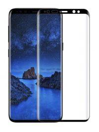 Folie curbată 3D din sticlă securizată pentru Samsung Galaxy S9+ NEGRU - Full cover