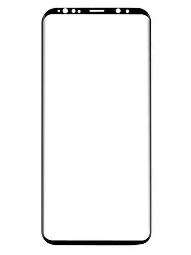 Folie curbată 3D din sticlă securizată pentru Samsung Galaxy S9+ NEGRU (Case-compatible 1)