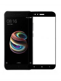 Folie ușor curbată 5D din sticlă securizată pentru Xiaomi Mi A1 NEGRU - Full glue