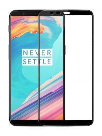 Folie ușor curbată 5D din sticlă securizată pentru OnePlus 5T NEGRU - Full glue