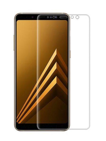 Folie curbată 3D din sticlă securizată pentru Samsung Galaxy A8 (2018) TRANSPARENT (Full cover)