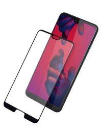 Folie ușor curbată 5D din sticlă securizată pentru Huawei P20 NEGRU - Full glue