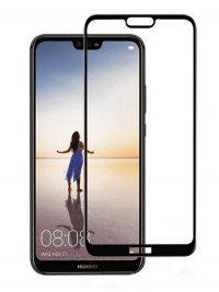 Folie curbată 3D din sticlă securizată pentru Huawei P20 Lite NEGRU
