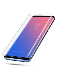 Folie curbată 3D din sticlă securizată pentru Samsung Galaxy S9+ TRANSPARENT - Full cover