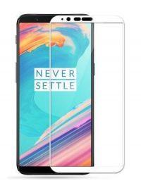 Folie ușor curbată 5D din sticlă securizată pentru OnePlus 5T ALB - Full glue