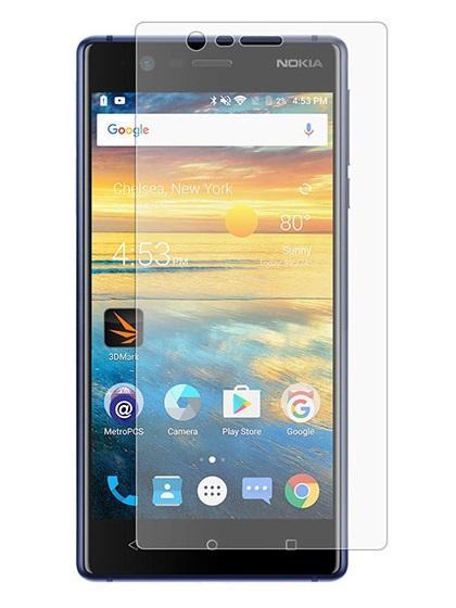 Folie curbată 3D din sticlă securizată pentru Nokia 3 TRANSPARENT (full cover)