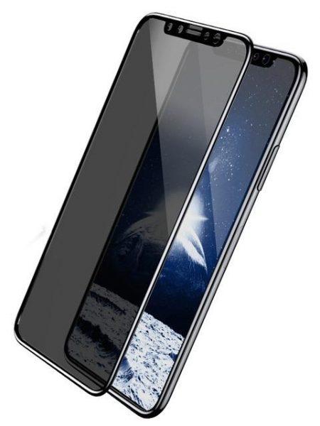 Folie PRIVACY curbată 5D din sticlă securizată pentru iPhone X / XS