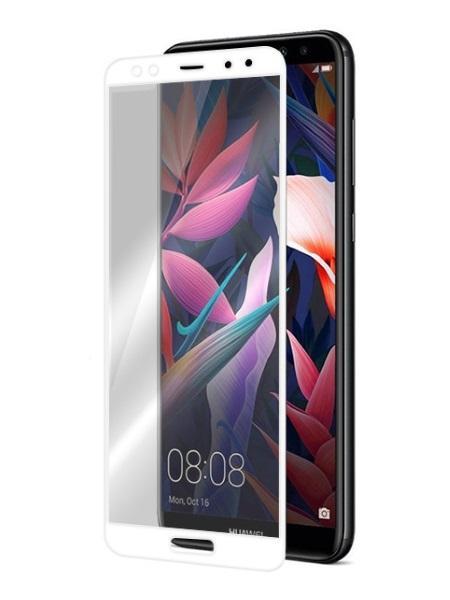 Folie curbată 5D din sticlă securizată pentru Huawei Mate 10 Lite ALB - Full glue