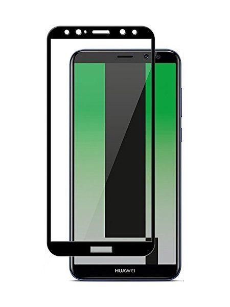 Folie curbată 5D din sticlă securizată pentru Huawei Mate 10 Lite NEGRU - Full glue