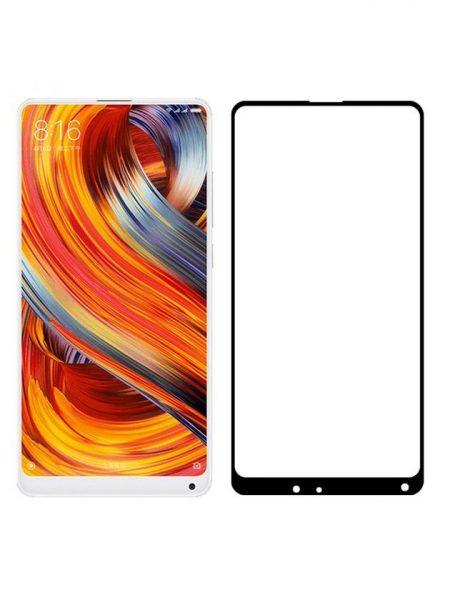 Folie curbată 5D din sticlă securizată pentru Xiaomi Mi Mix 2 NEGRU - Full glue