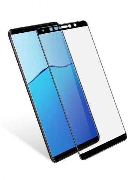 Folie curbată 5D din sticlă securizată pentru Vivo X20 NEGRU - Full glue