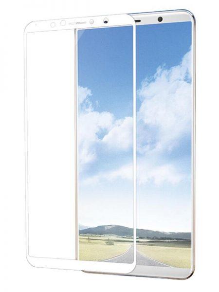 Folie curbată 5D din sticlă securizată pentru Vivo X20 Plus ALB - Full glue