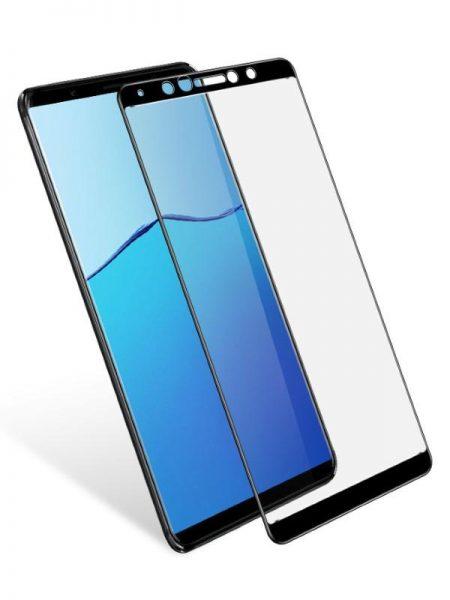 Folie curbată 5D din sticlă securizată pentru Vivo X20 Plus NEGRU - Full glue