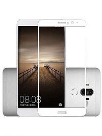 Folie ușor curbată 5D din sticlă securizată pentru Huawei Mate 9 ALB - Full glue