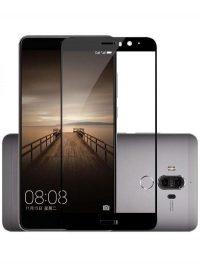 Folie ușor curbată 5D din sticlă securizată pentru Huawei Mate 9 NEGRU - Full glue