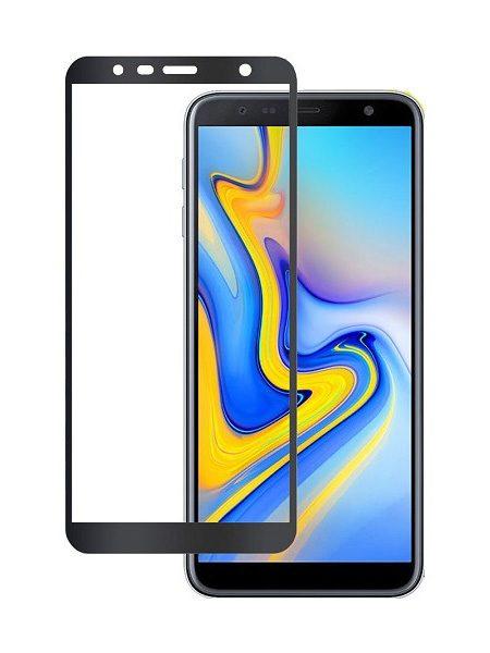 Folie curbată 5D din sticlă securizată pentru Samsung Galaxy J4+ (2018) NEGRU - Full glue
