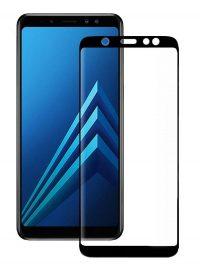Folie curbată 3D din sticlă securizată pentru Samsung Galaxy A6 / J6 (2018) NEGRU (Full cover)