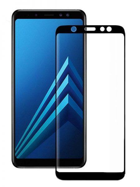 Folie curbată 5D din sticlă securizată pentru Samsung Galaxy A6 (2018) NEGRU - Full glue