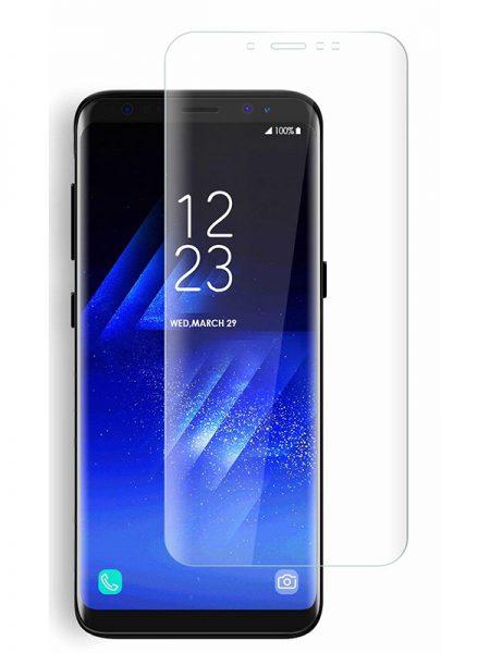 Folie curbată 3D din sticlă securizată pentru Samsung Galaxy A6 (2018) TRANSPARENT (Full cover)