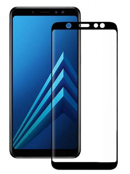 Folie curbată 3D din sticlă securizată pentru Samsung Galaxy A6+ (2018) NEGRU (Full cover)