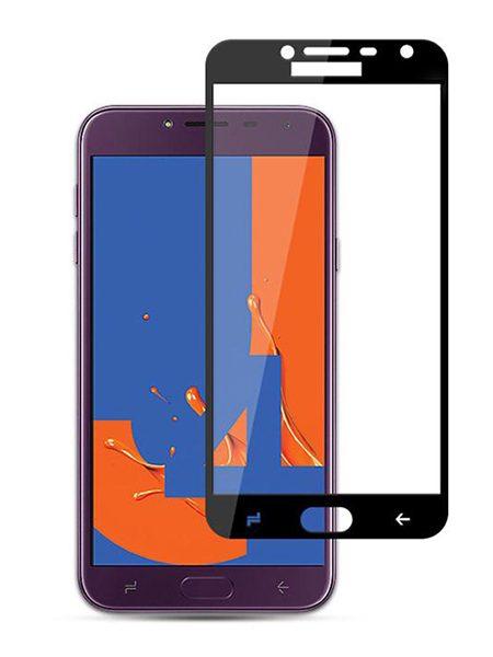 Folie curbată 5D din sticlă securizată pentru Samsung Galaxy J4 (2018) NEGRU - Full glue