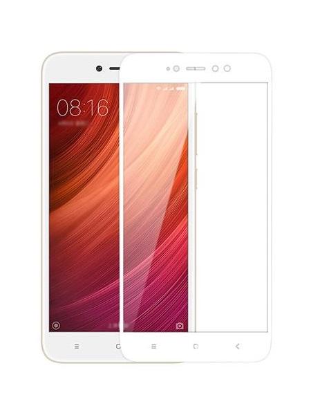 Folie curbată 5D din sticlă securizată pentru Xiaomi Redmi Note 5A (Y1) ALB - Full glue