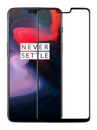 Folie ușor curbată 5D din sticlă securizată pentru OnePlus 6 NEGRU - Full glue