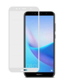 Folie ușor curbată 5D din sticlă securizată pentru Huawei Y6 (2018) ALB - Full glue